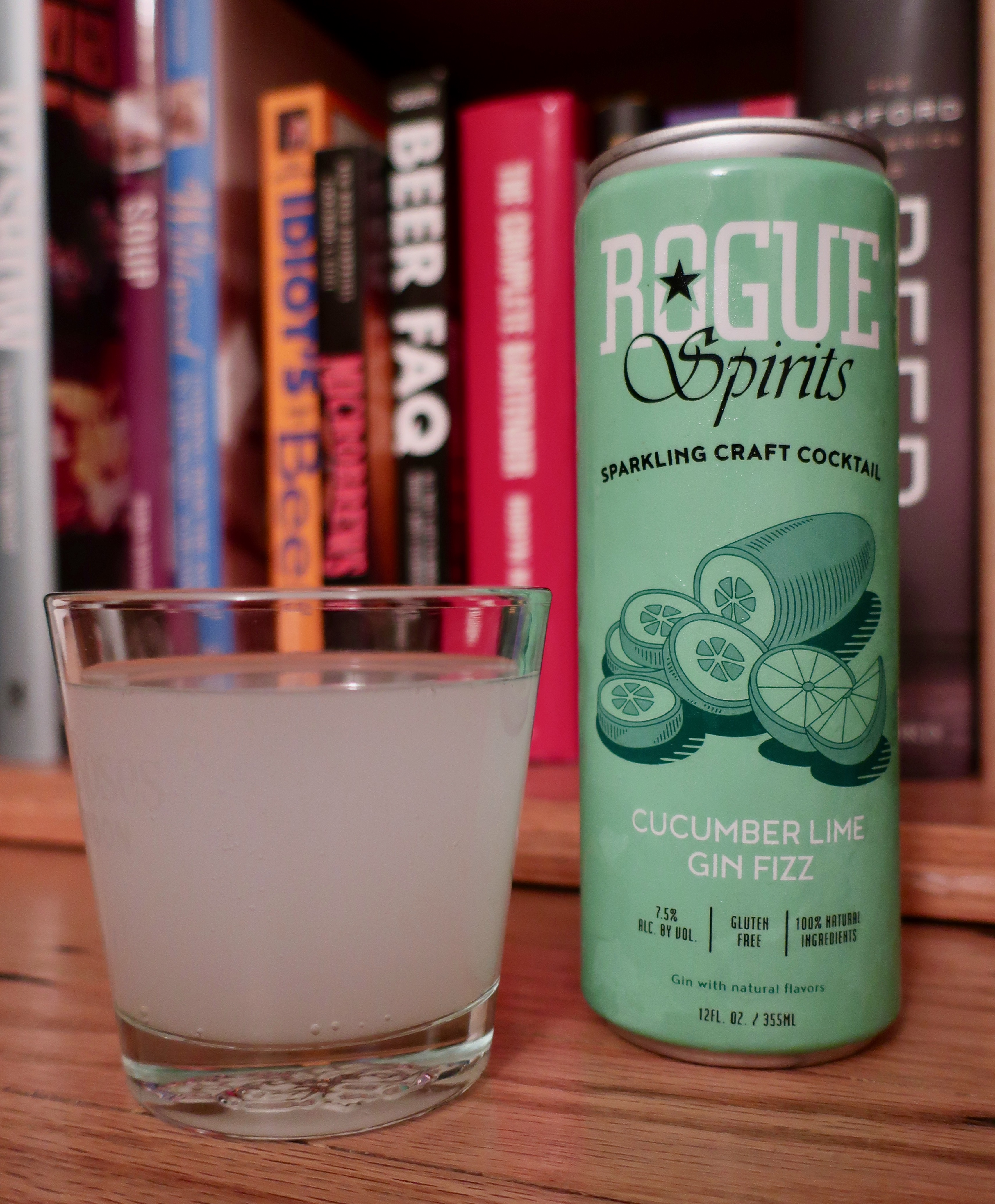 Cucumber Lime Gin Fizz, part of the new series of Rogue Canned Cocktails.