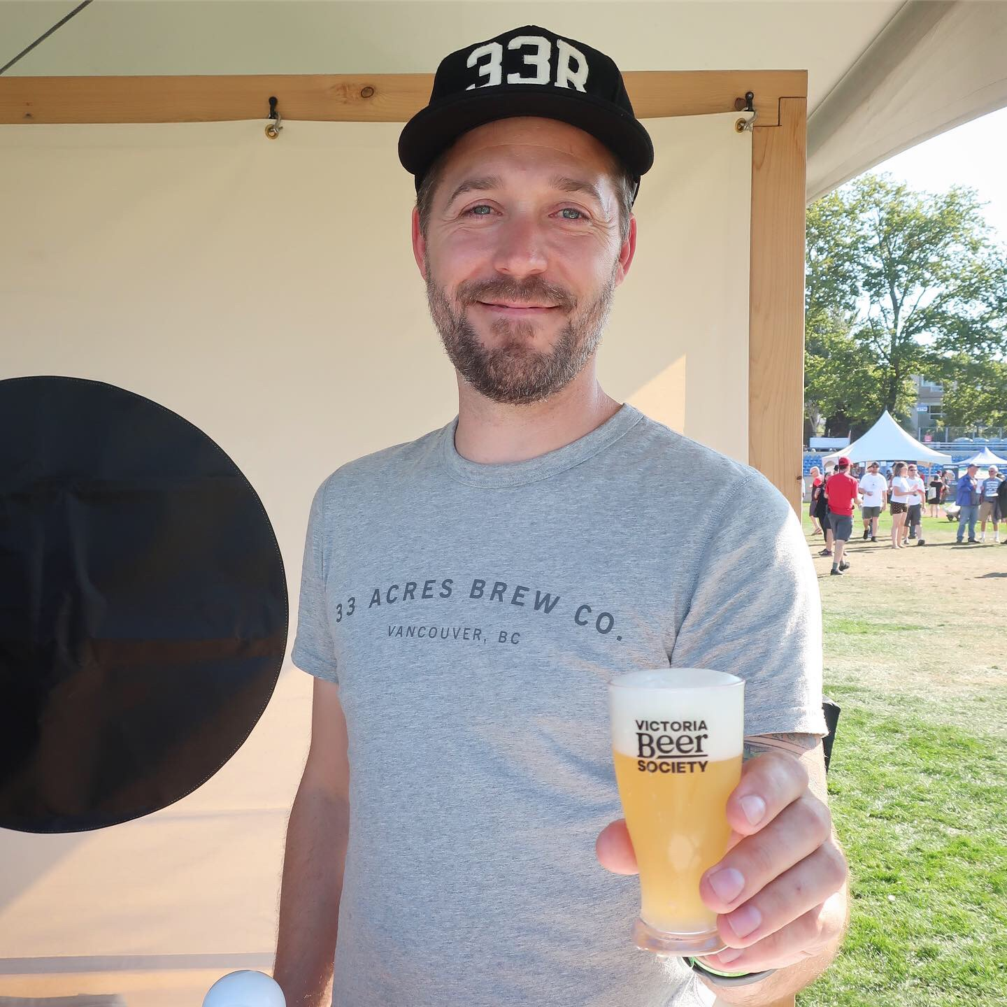 Former Portland brewer Trever Bass, now Head Brewer at 33 Brewing Experiment located in Vancouver, BC during the 2019 Great Canadian Beer Festival.