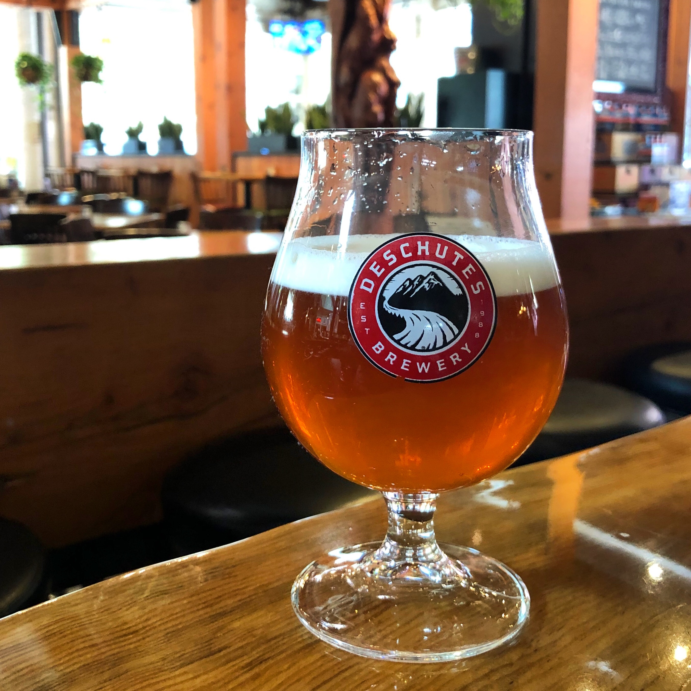 Fresh Hop in the City IIPA on cask at Deschutes Brewery - Portland Public House.