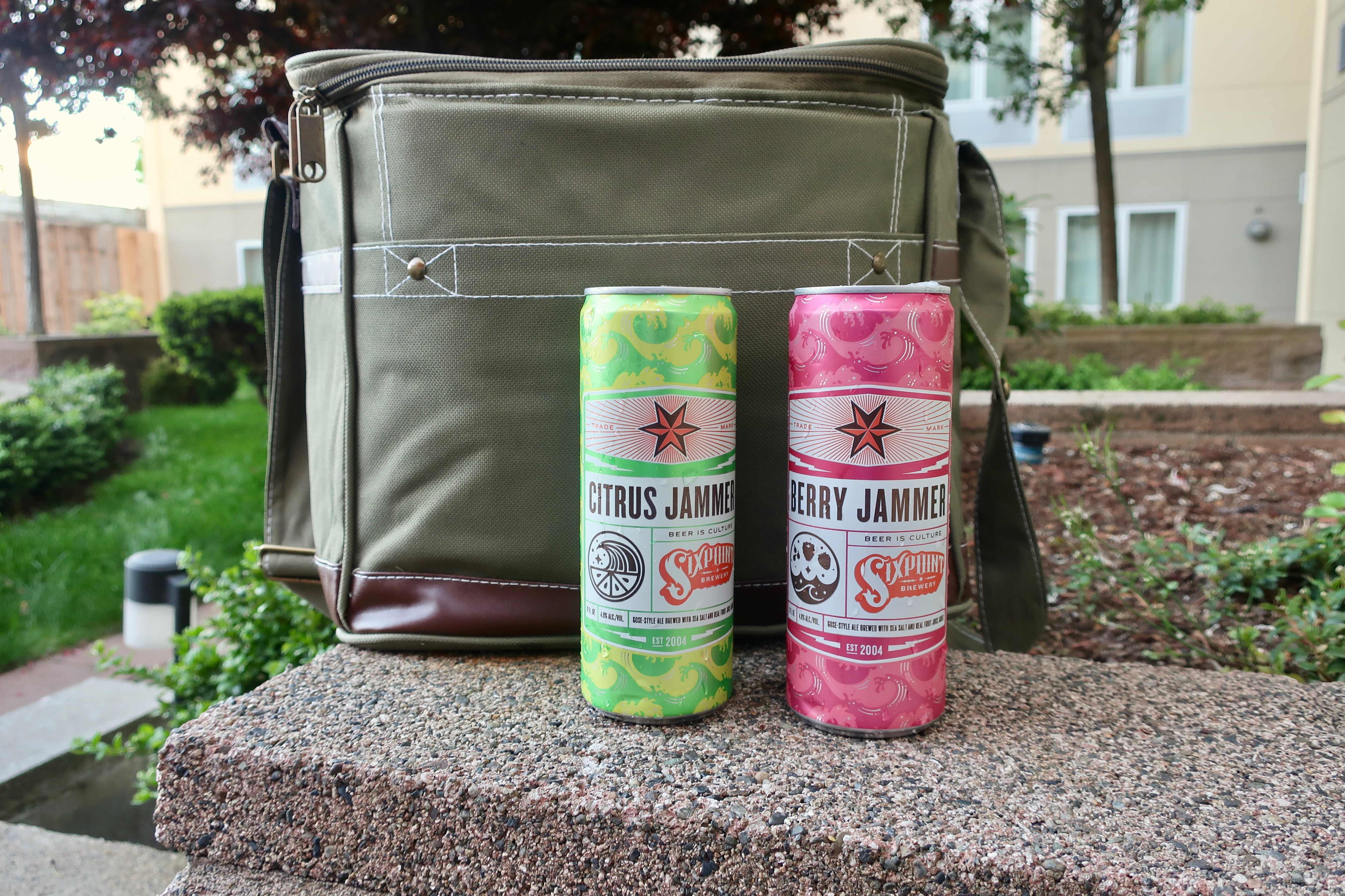 Groovy Guy Gifts Combat Cooler holds up to 18 cans.