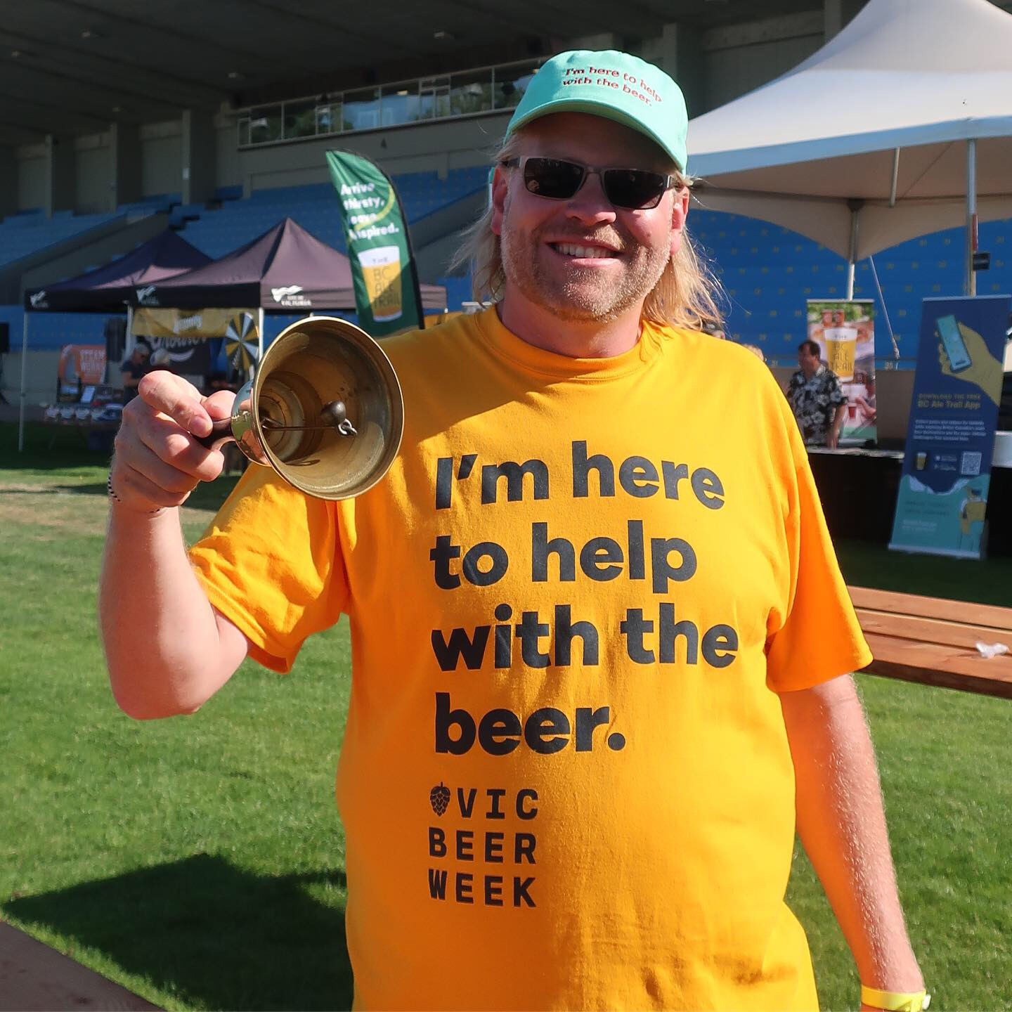 Joe Wiebe, Beer Director of the Victoria Beer Society rang the coveted bell when the gates opened to the 2019 Great Canadian Beer Festival.