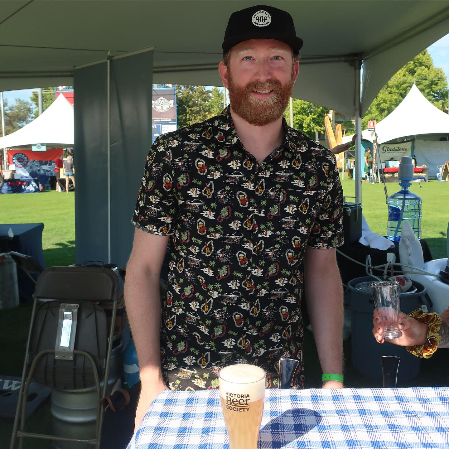 Matt West-Patrick, Brewmaster at Whistle Buoy Brewing during the 2019 Great Canadian Beer Festival.