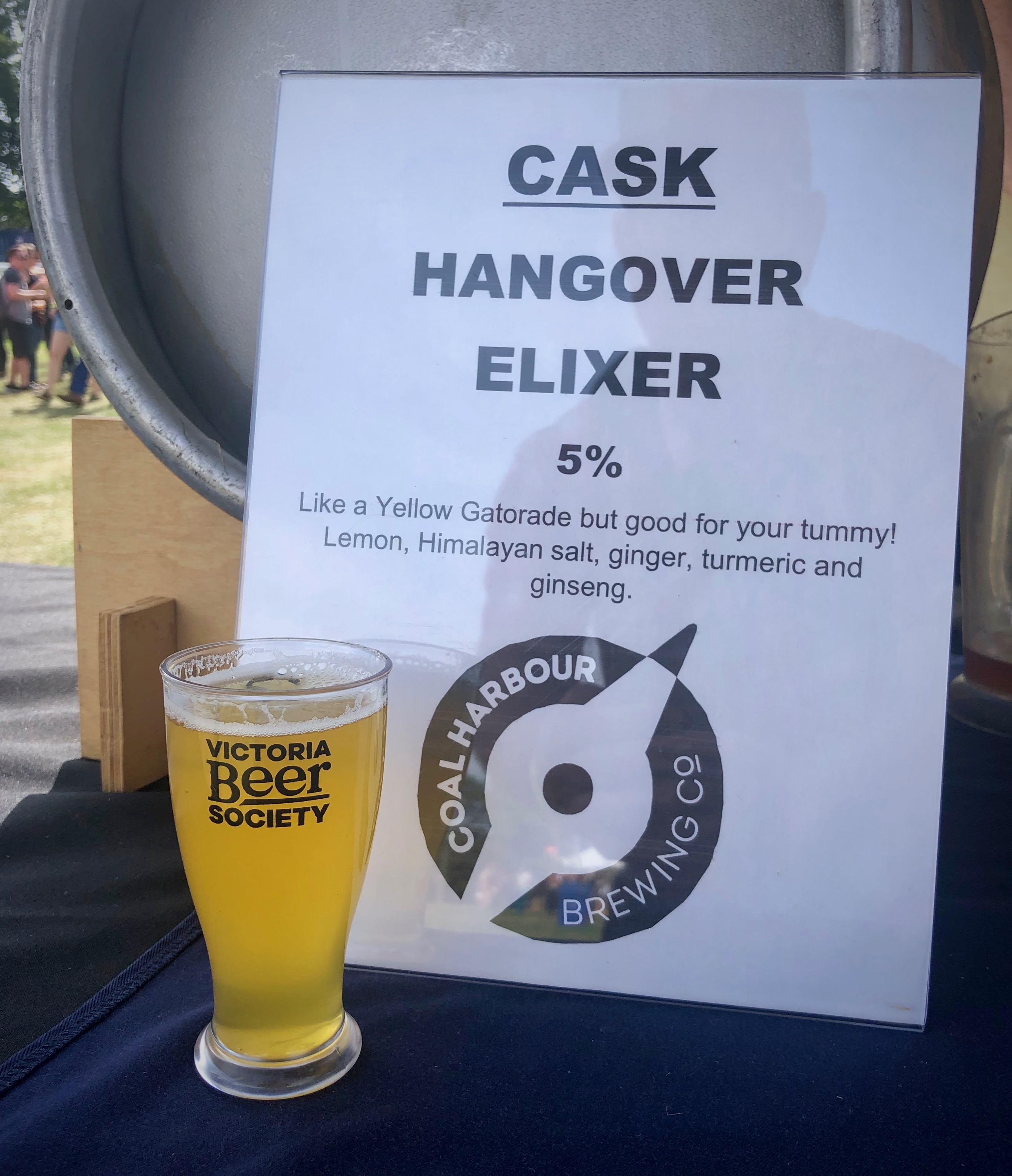 On day two of the 2019 Great Canadian Beer Festival this Hangover Elixer on Cask from Coal Harbour Brewing hit the spot!