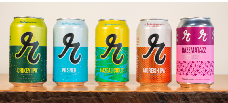 image of the refreshed branding courtesy of Reuben's Brews