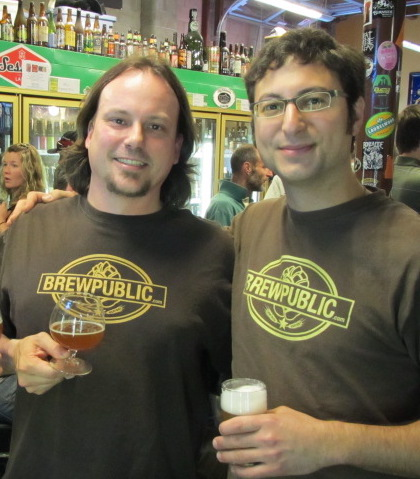 Sean Campbell and Alex Ganum...circa 2011 at The BeerMongers. (photo from Angelo De Ieso)