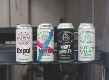 image of Bretta de Milo Saison, Expat Export Lager, Night Howler, Cut the Fluff courtesy of Baerlic Brewing