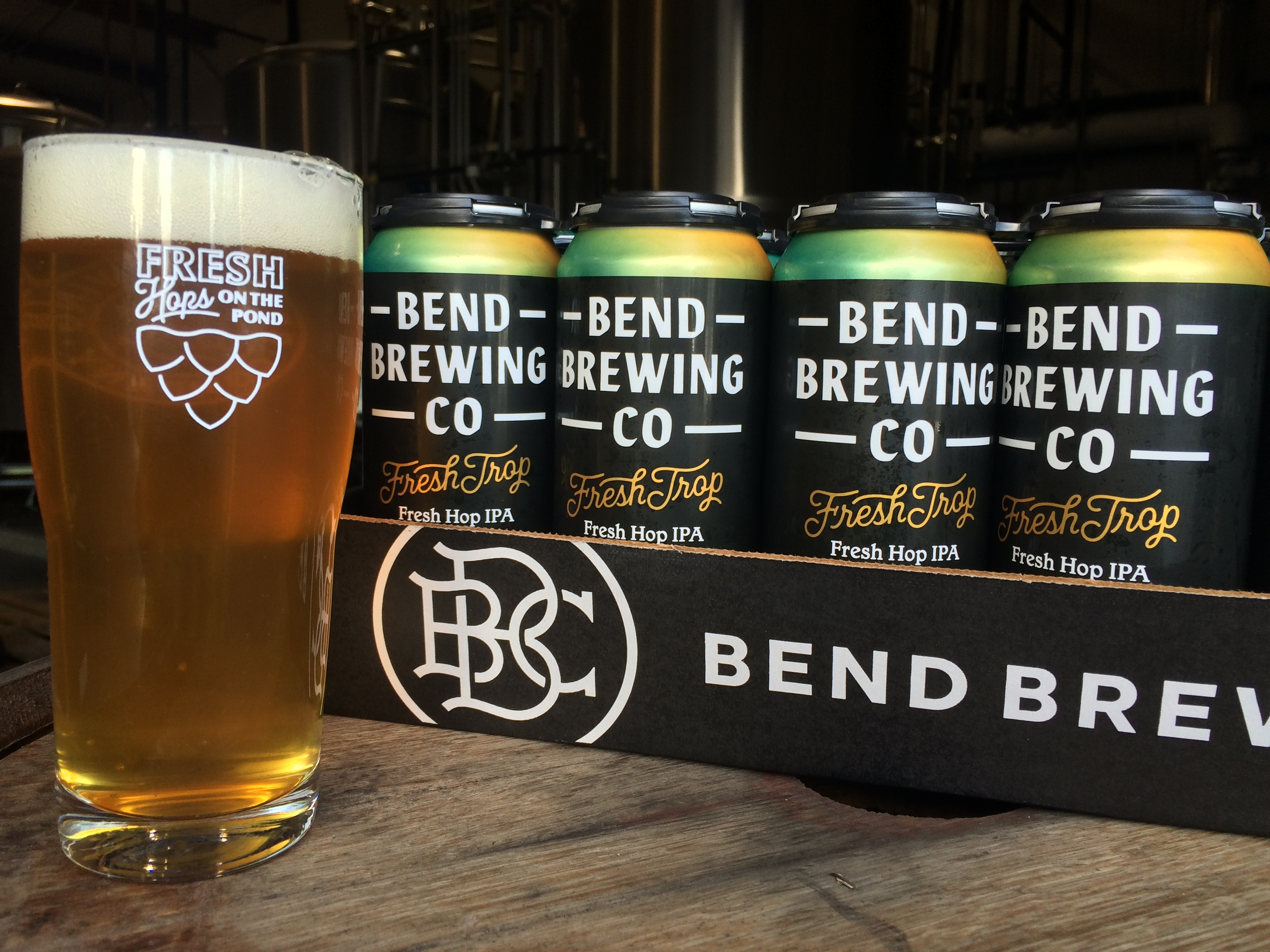 image of Fresh Trop Fresh Hop IPA courtesy of Bend Brewing Co.