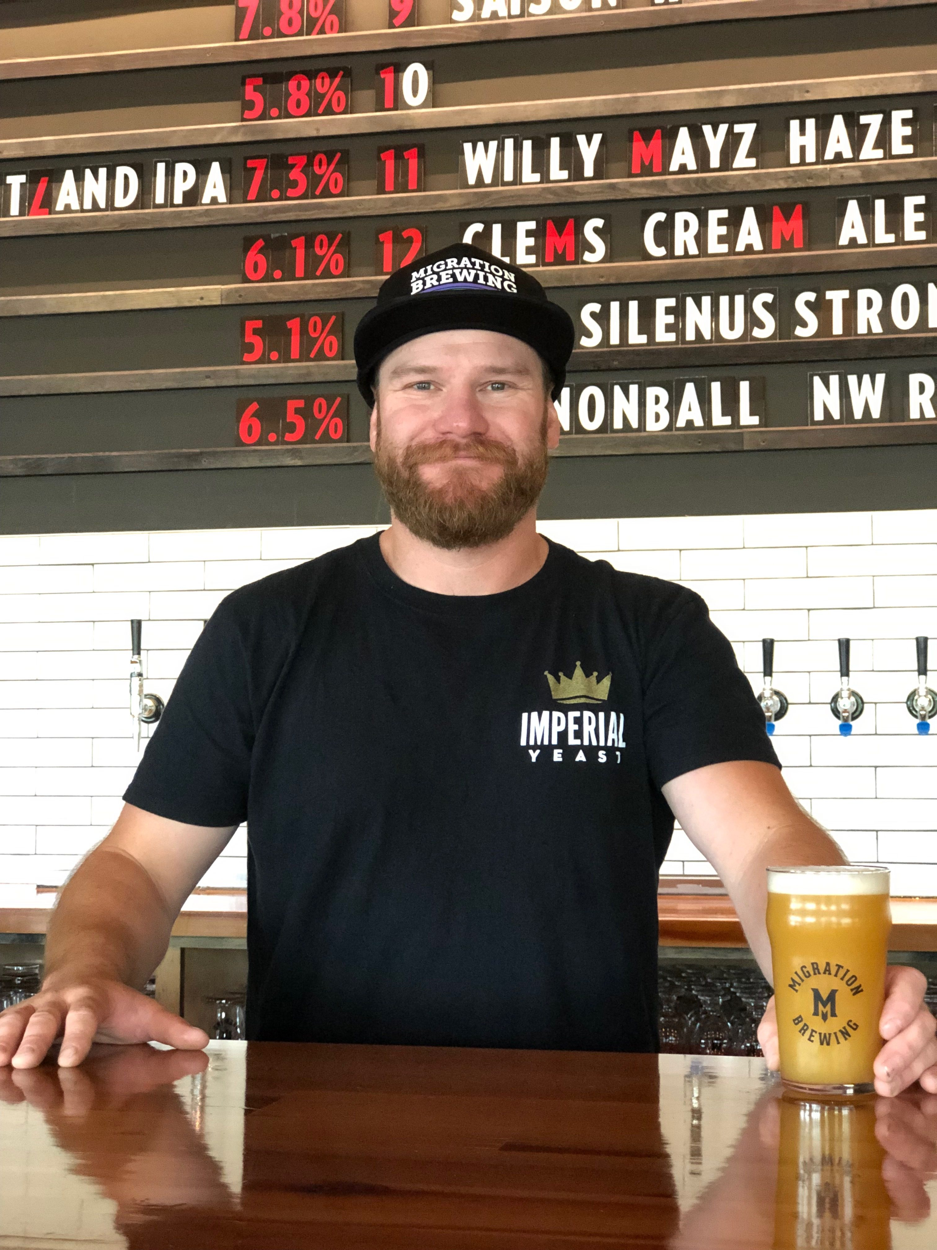 image of Zack Kaplan, new Head Brewer at Migration Brewing courtesy of the brewery