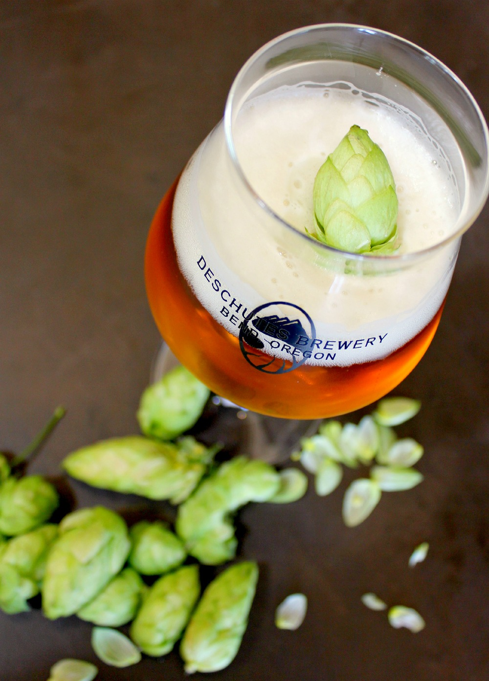 image of fresh hops courtesy of Deschutes Brewery