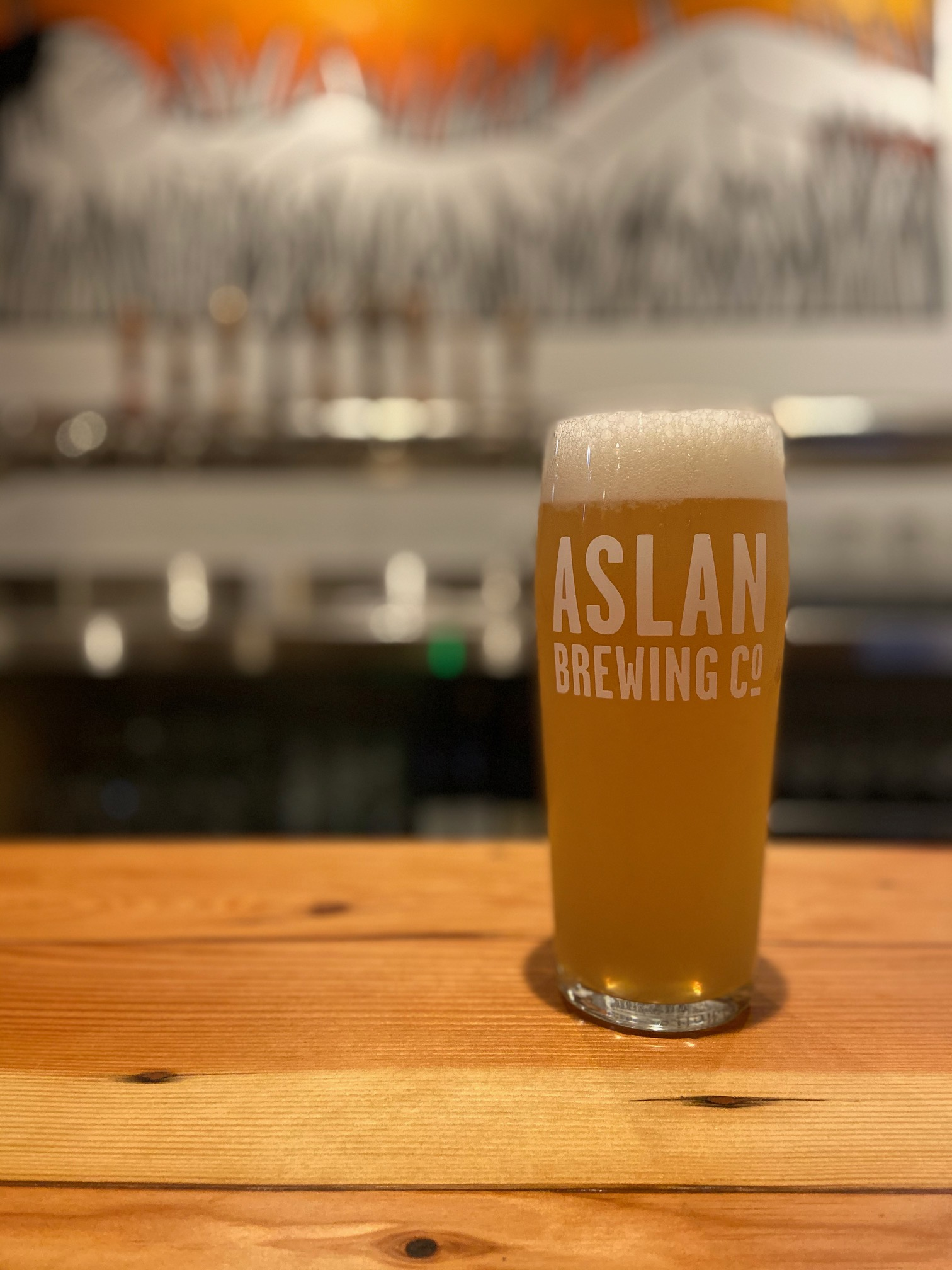 A nod to Nirvana, Floyd the Barber Nordic Pale Ale at Aslan Brewing Seattle.