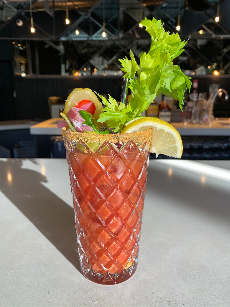 Bloody Mary at Avid Cider Co. & Kitchen. (photo by Cat Stelzer)