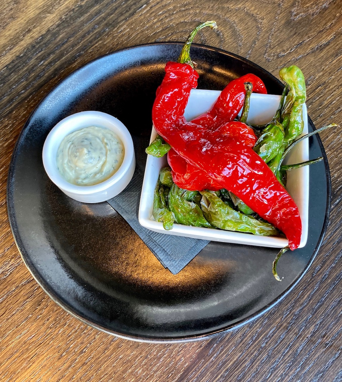 Fried Peppers at Avid Cider Co. & Kitchen. (photo by Cat Stelzer)