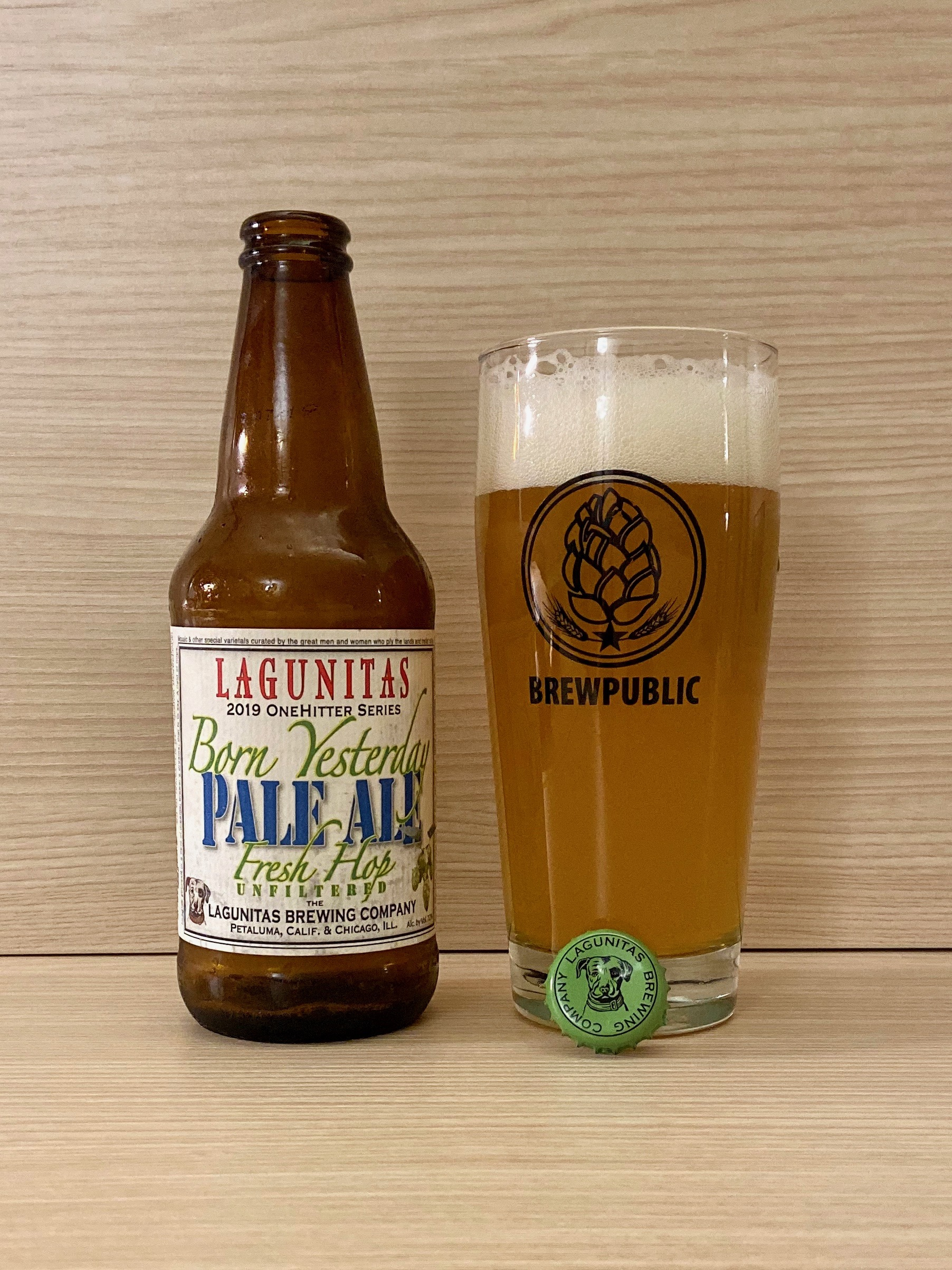 Lagunitas Brewing has released its 2019 Born Yesterday Fresh Hop Pale Ale in 12oz bottles.