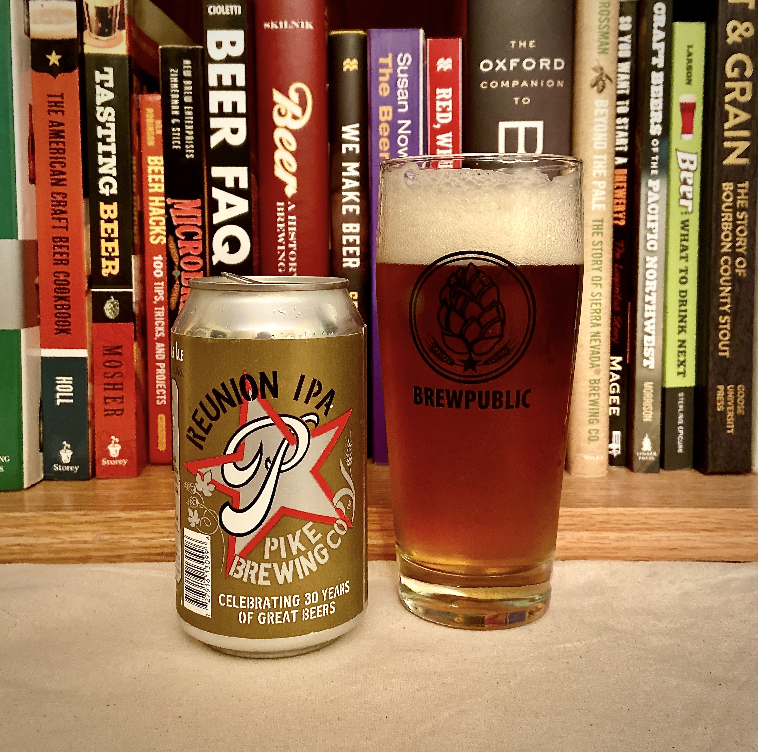 Pike Brewing Reunion IPA served in a BREWPUBLIC glass.