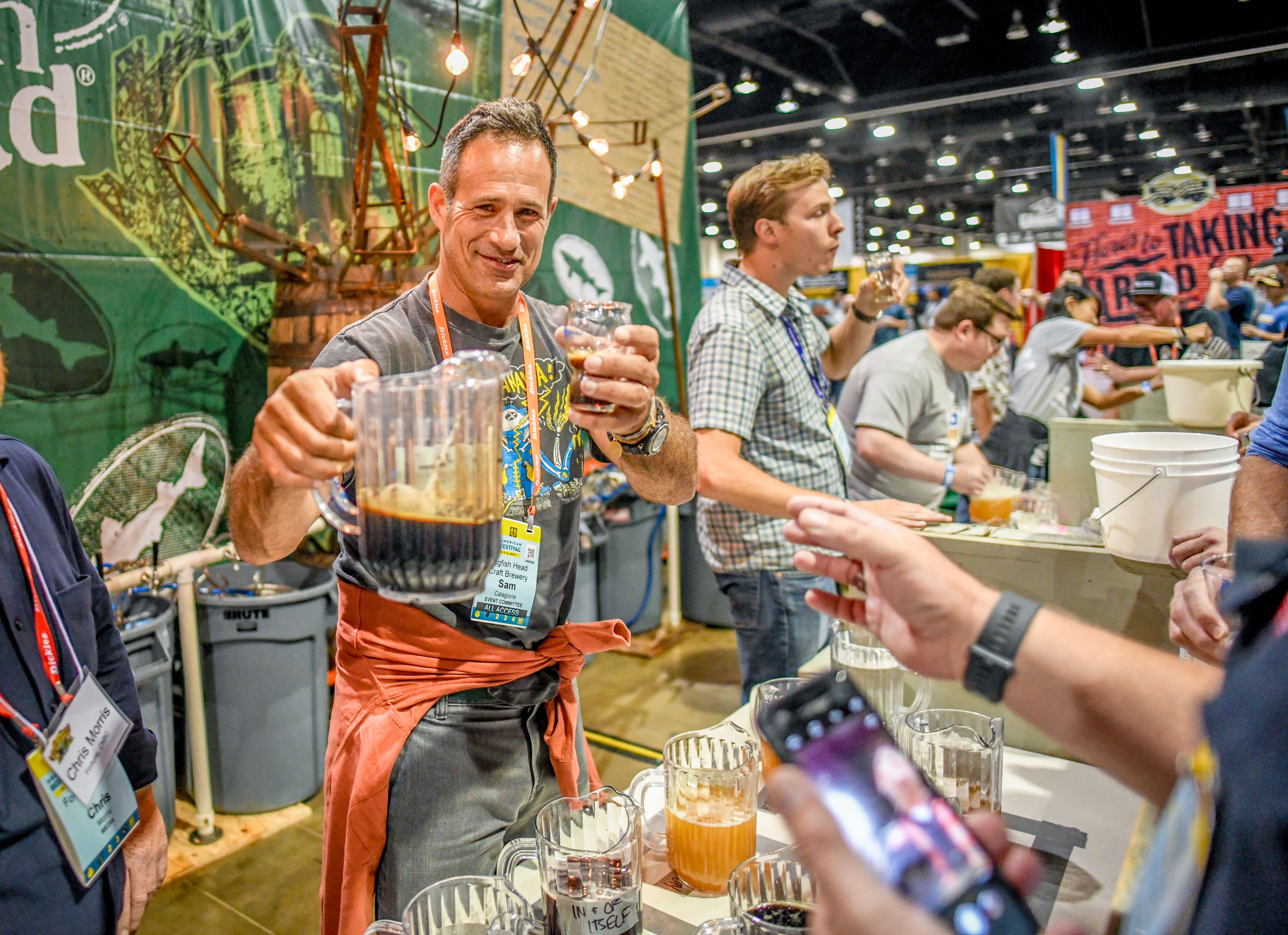 Sam Calagione at the 2019 Great American Beer Festival - Photo ©Brewers Association