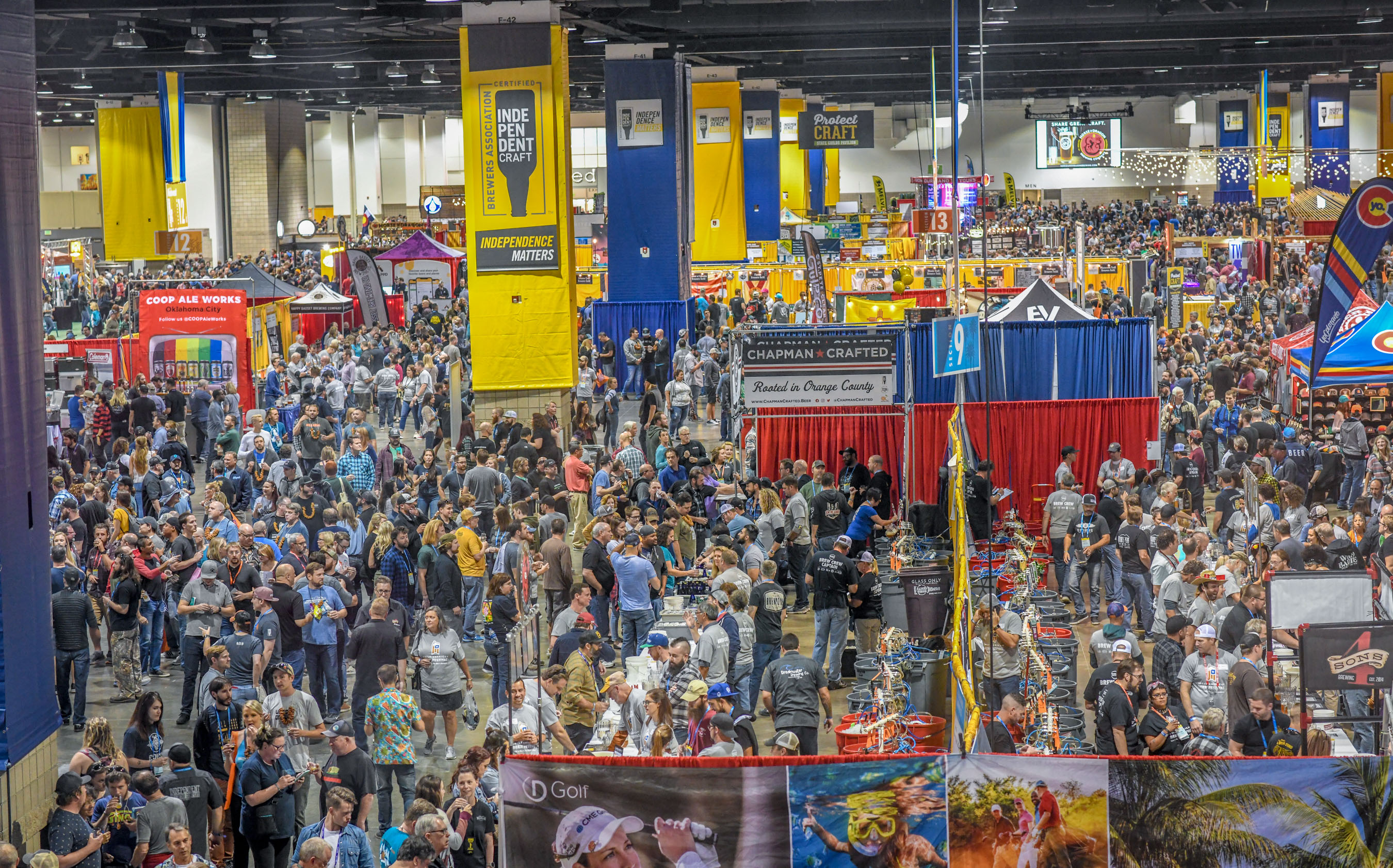 Attendees at the 2019 Great American Beer Festival - Photo ©Brewers Association