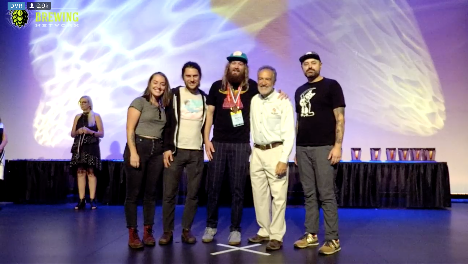 image of Cloudburst Brewing receiving the Bronze Medal in Fresh Hop courtesy of The Brewing Network