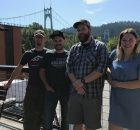 image of Dave (Kulshan), Wesley (Kulshan), Sam (Occidental), and Katie (Kulshan). (Photo by Alex Pozzi)