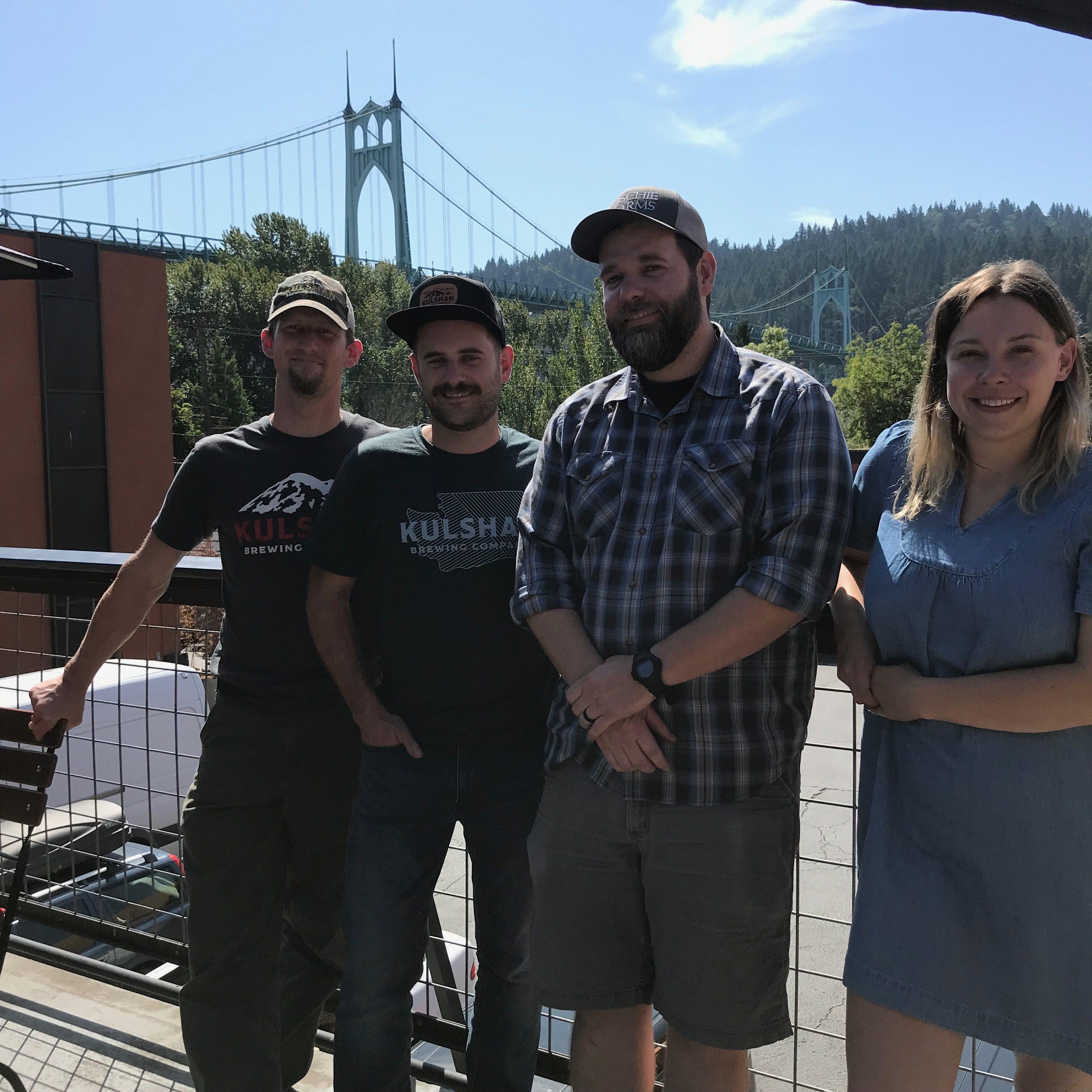image of Dave (Kulshan), Wesley (Kulshan), Sam (Occidental), and Katie (Kulshan). (Photo by Alex Pozzi)