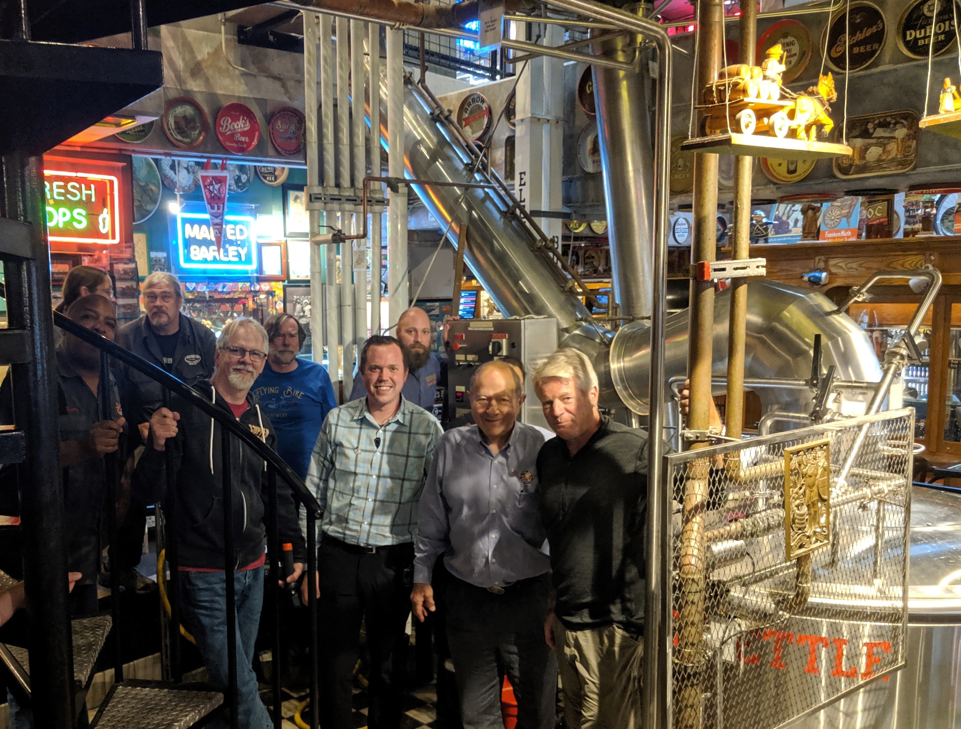 image of Larry Rock, Bill Jenkins, Drew Cluley, Jason Parker, Kevin Forhan, Adam Orick, Drew Gillespie, Charles Finkel, and Dick Cantwell courtesy of Pike Brewing