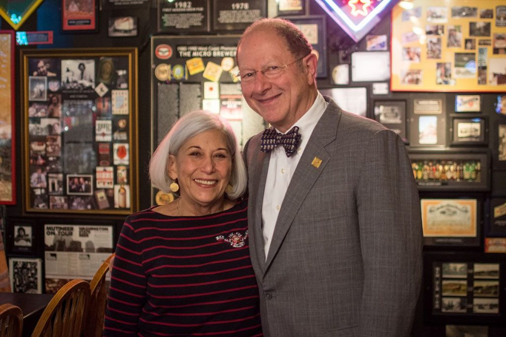 image of Rose Ann and image of Charles Finkel courtesy of Pike Brewing