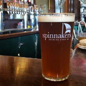 A freshly poured beer from the beer engine at Spinnakers Gastro Brewpub & GuestHouses in Victoria, BC.