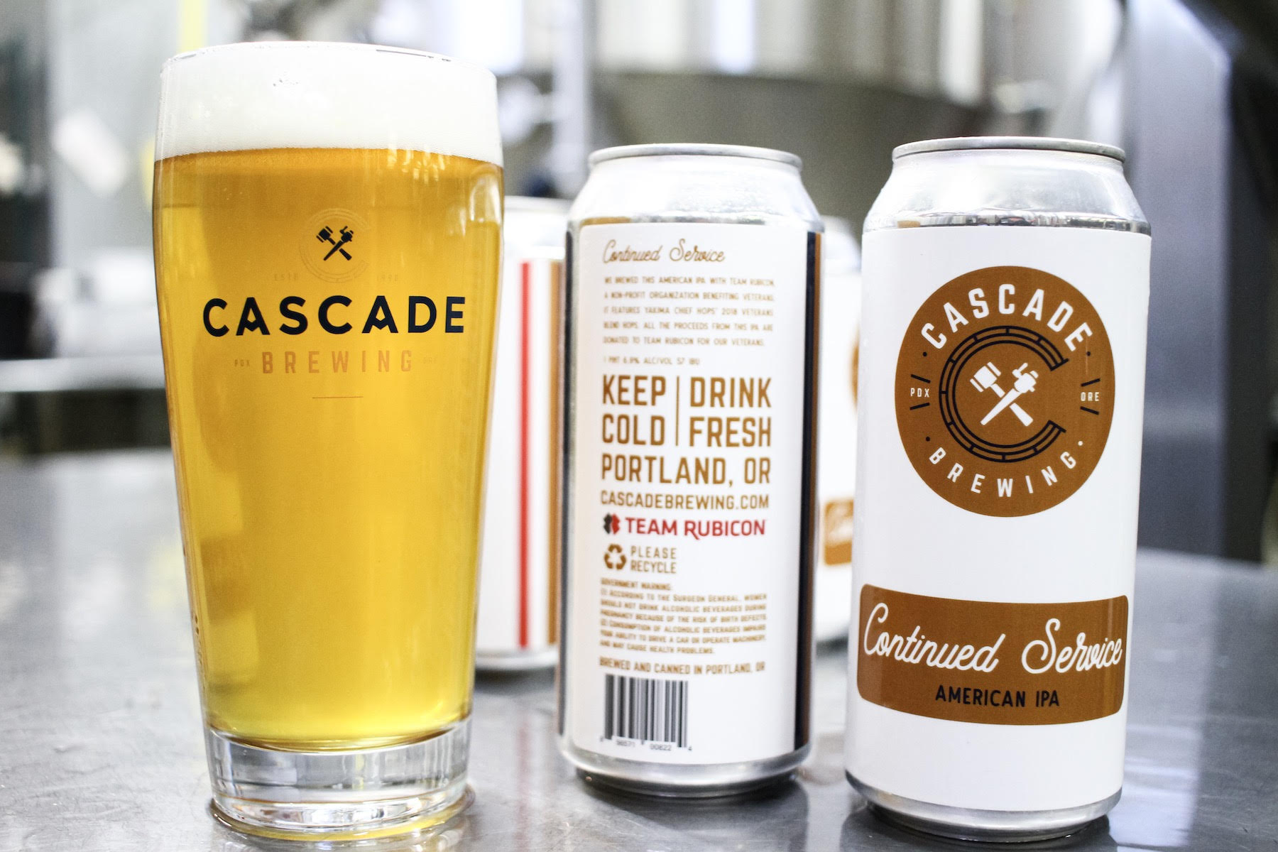 Cascade Brewing Collaborates with Team Rubicon on Continued Service IPA for Veterans Day. (image courtesy of Cascade Brewing)