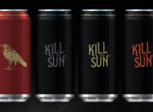 image of lineup of Nevermore and Kill the Sun Classic, Kill the Sun Mocha and Kill the Sun Horchata courtesy of Ex Novo Brewing