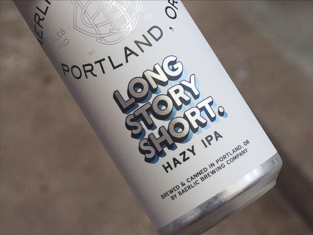 image of Long Story SHort Hazy IPA courtesy of Baerlic Brewing