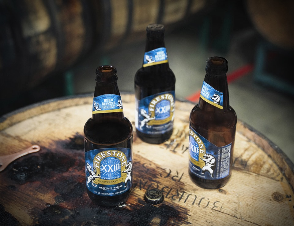 image of bottles of XXIII Anniversary Ale courtesy of Firestone Walker Brewing