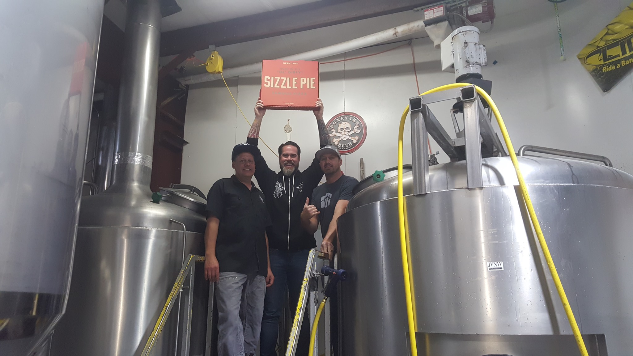 image of brewing Rest In Pizza IPA with Sizzle Pie courtesy of Boneyard Beer