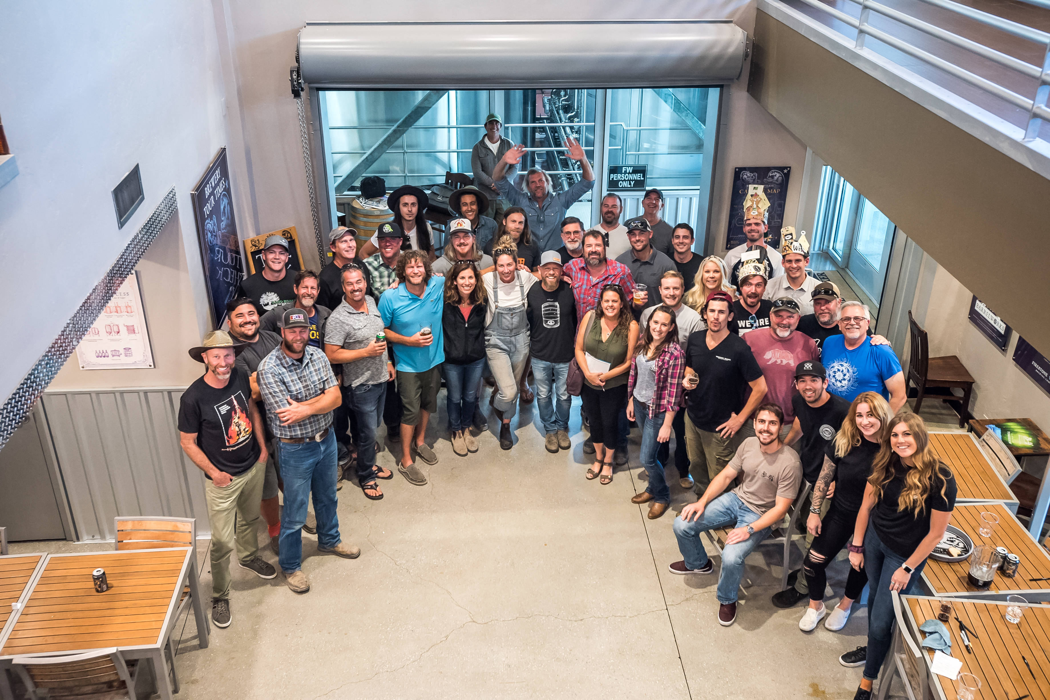 image of the 2019 Blending Crew courtesy of Firestone Walker Brewing