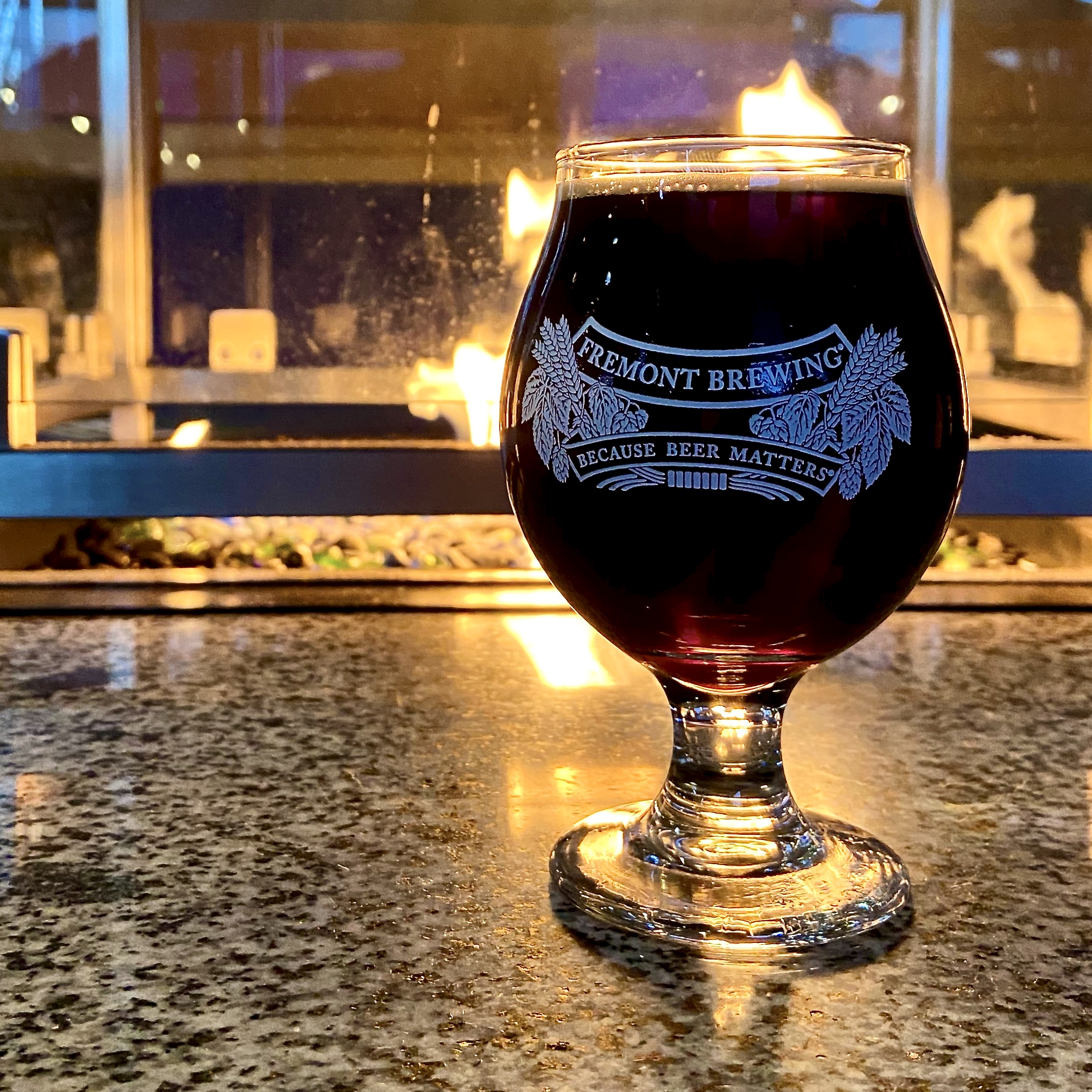 Fremont Brewing 2019 B-Bomb on tap at the Fremont Urban Beer Garden.