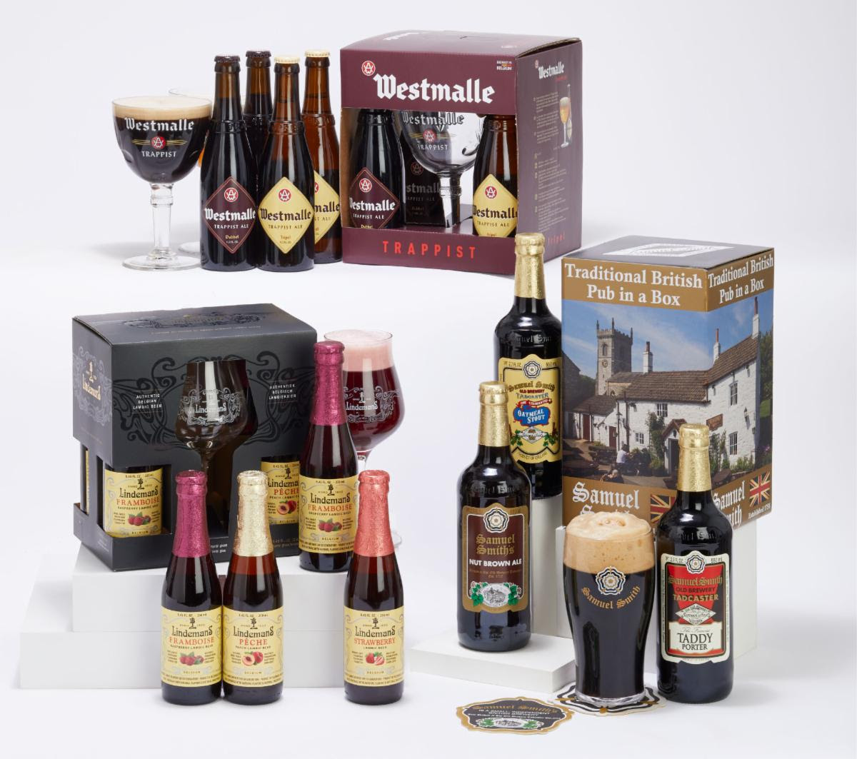 Merchant du Vin - Samuel Smith's, Lindemans Lambic, and Westmalle Trappist Gift Box