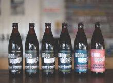 image of 2019 WoodWorker bottles courtesy of Baerlic Brewing