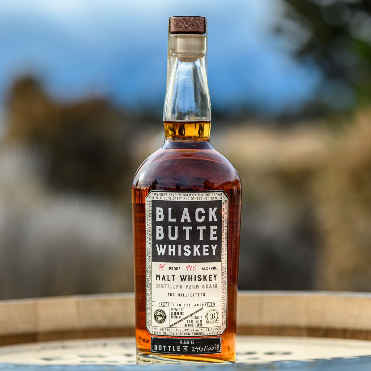 image of Bendisitllery and Deschutes Brewery's Black Butte Whiskey courtesy of Deschutes Brewery