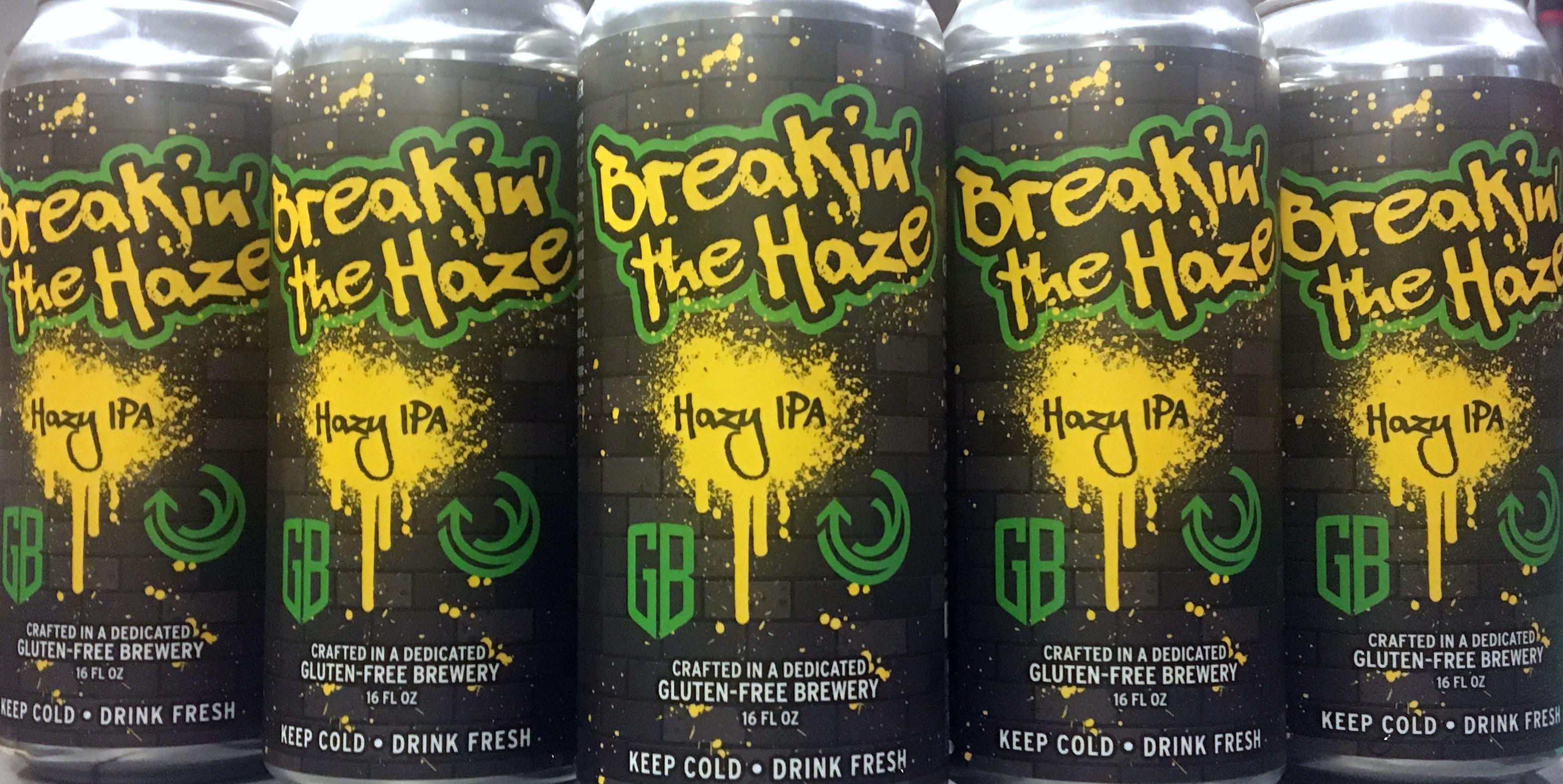 image of Breakin' the Haze - Gluten-Free Hazy IPA courtesy of Ground Breaker Brewing