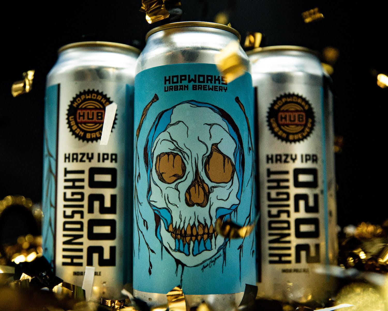 image of Hindsight 2020 Hazy IPA courtesy of Hopworks Urban Brewery