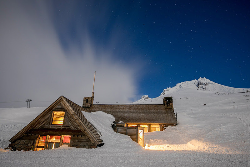 image of Silcox Hut courtesy of Timberline Lodge