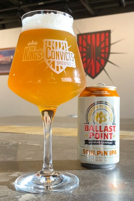 image of a can of Ballast Point Sculpin IPA courtesy of the brewery's new owners, Kings & Convicts Brewing from Highwood, Illinois