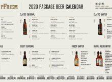 pFriem Family Brewers 2020 Packaged Beer Release Calendar