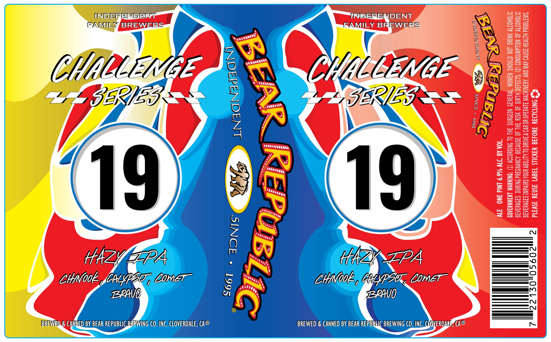 Bear Republic Brewing Challenge Series #19 Hazy IPA Label