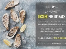 Chill N Fill.January 2020 Oyster Pop Ups