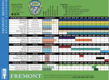 Fremont Brewing 2020 Beer Release Calendar