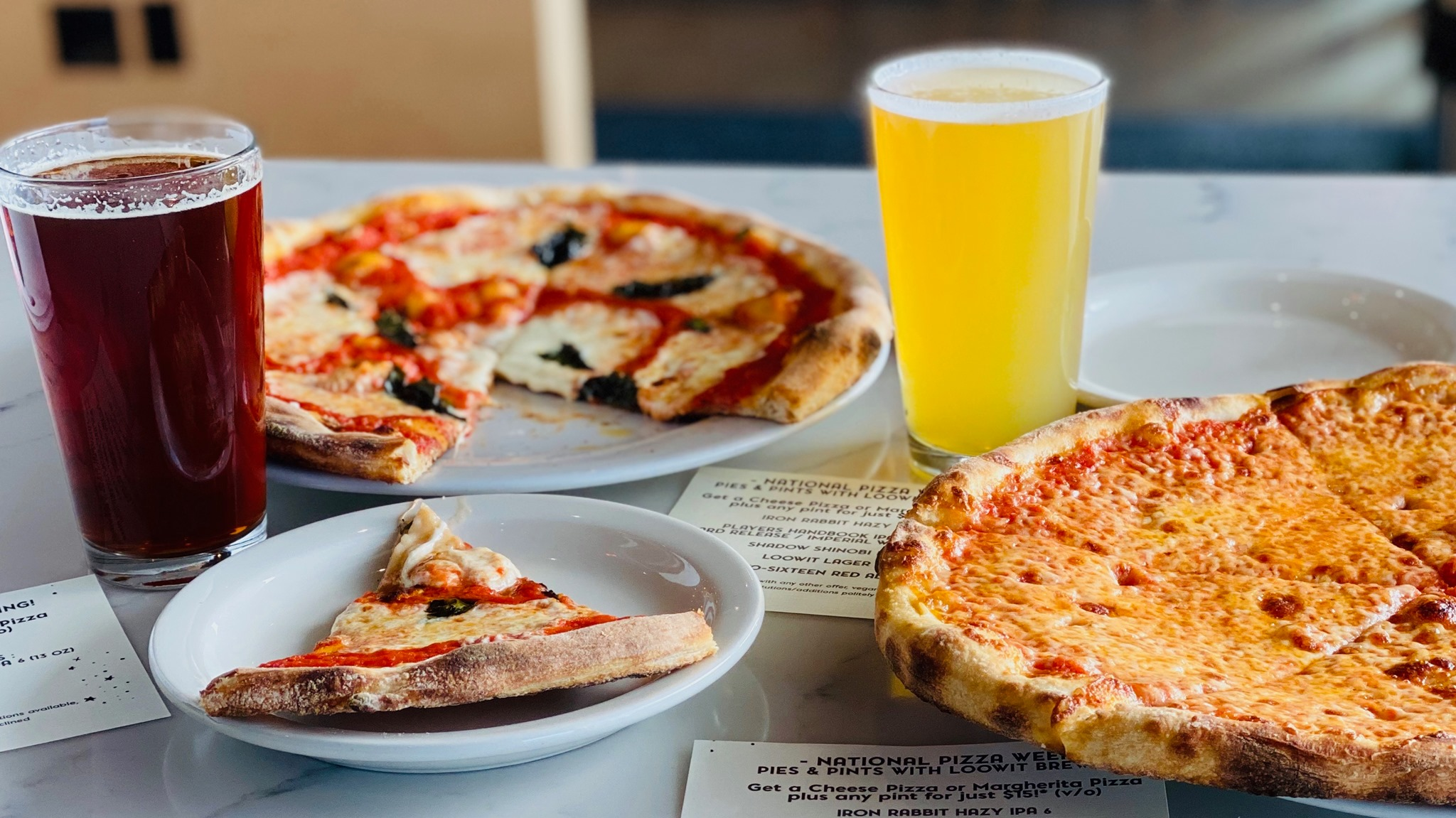 Its 2020 National Pizza Week and Rally Pizza is celebrating the week with pizza and beer from Loowit Brewing. (image courtesy of Rally Pizza)