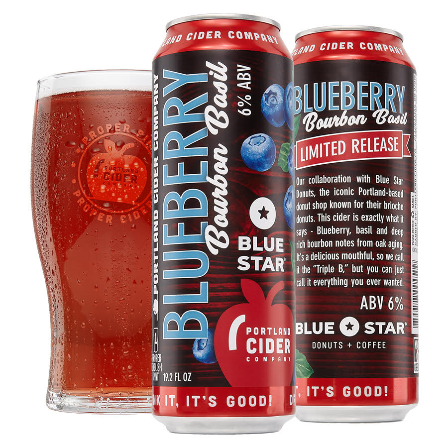 Portland Cider Co. Collaborates with Blue Star Donuts on Blueberry Bourbon Basil