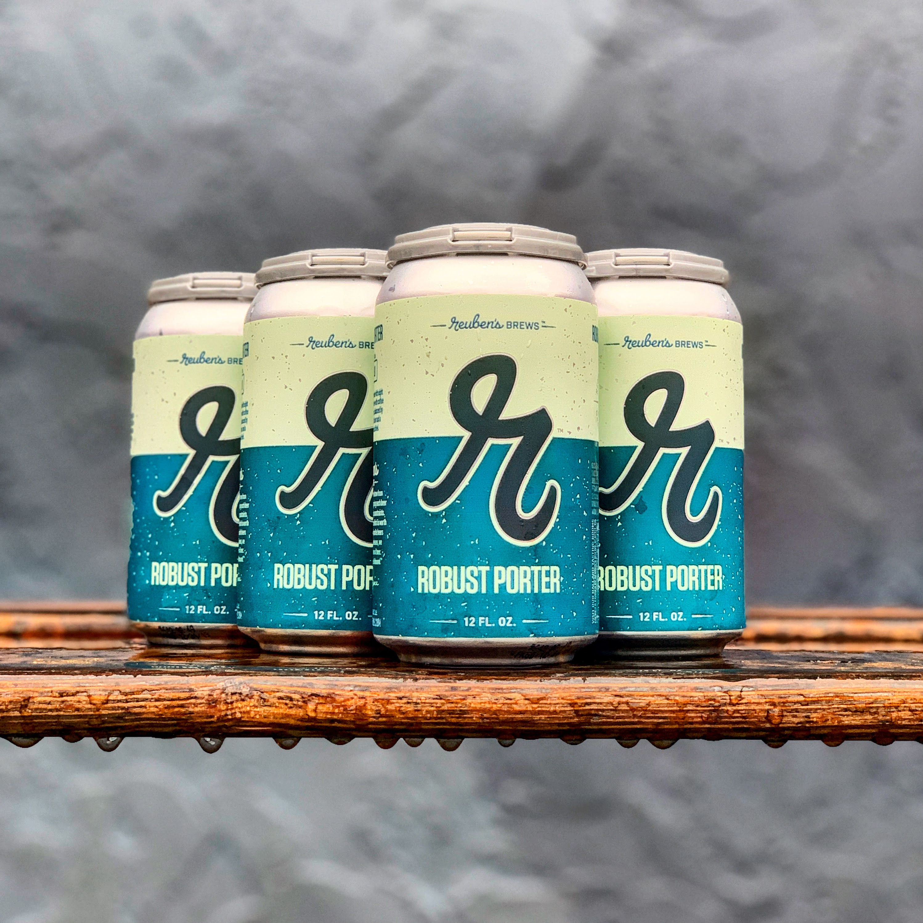 Reuben's Brews Robust Porter is now available in 12oz. 6-pack cans. (image courtesy of Reuben's Brews)