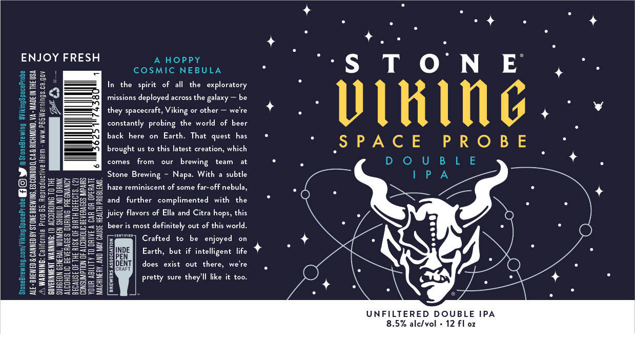 Stone Brewing Releases Stone Viking Space Probe Double IPA