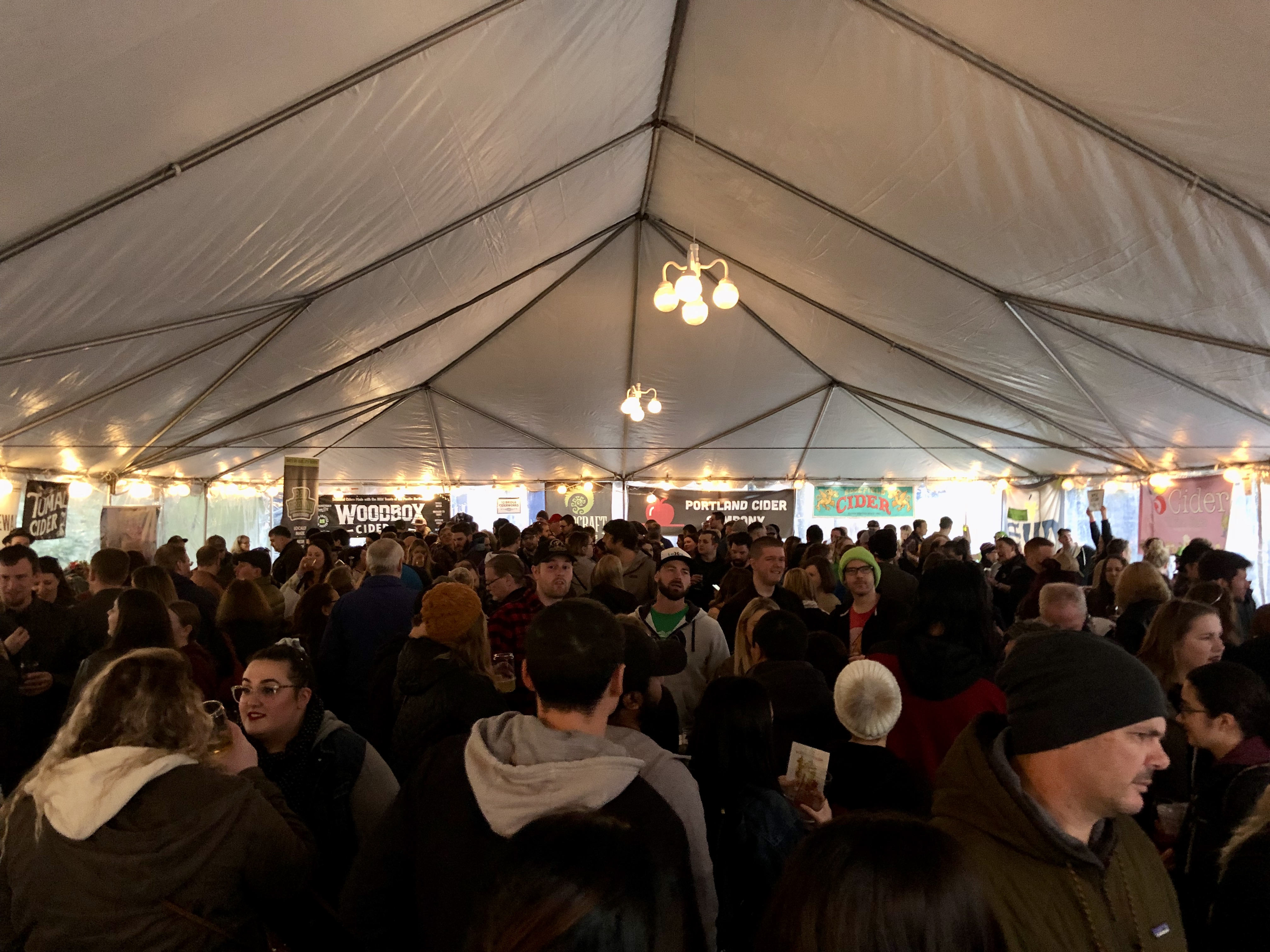 The festive crowd at the McMenamins Cornelius Pass Roadhouse Wassail Cider Festival.