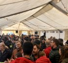 The festive crowd fills the tent at the NW Coffee Beer Invitational.